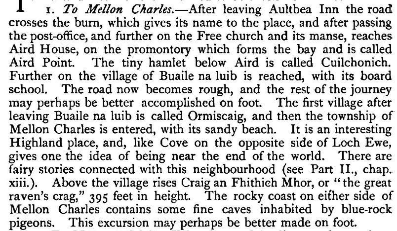 An excerpt from John H. Dixon's Gairloch in North-west Ross-shire, 1886