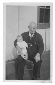 James McPherson with grandson Tony Pollock in 1949