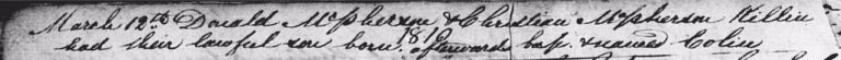 Old Parish Register 361/20324 Killin