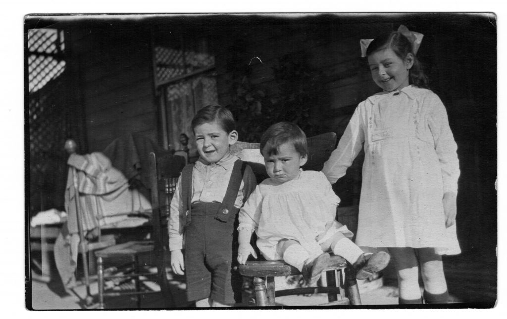 Colin, Norman and Adeline about 1919
